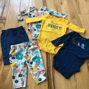 Adorable Onesies and Pants Set